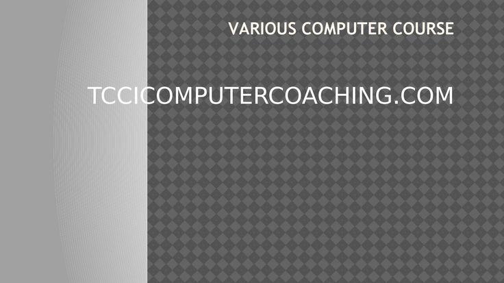 Various computer course tcci