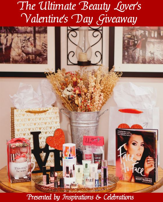 "Win a deluxe $125 beauty package by entering ""The Ultimate Beauty Lover's Valentine's Day Giveaway"" from Inspirations & Celebrations!"