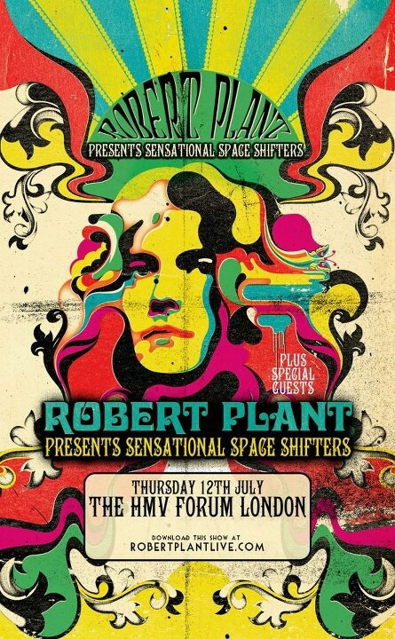 ☮ American Hippie Music ~ Concert Poster .. Robert Plant, Vector Arena, Auckland, NZ April 2013