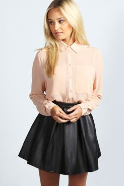 Imogen Long Sleeve Lace Panel Shirt