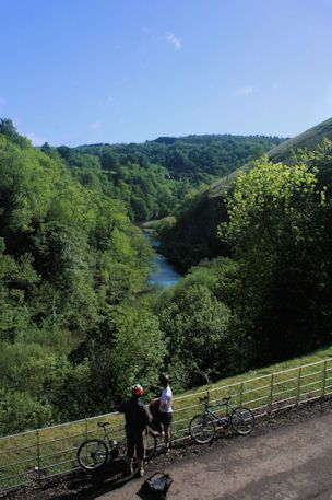The view towards Water cum Jolly from the Monsal Trail