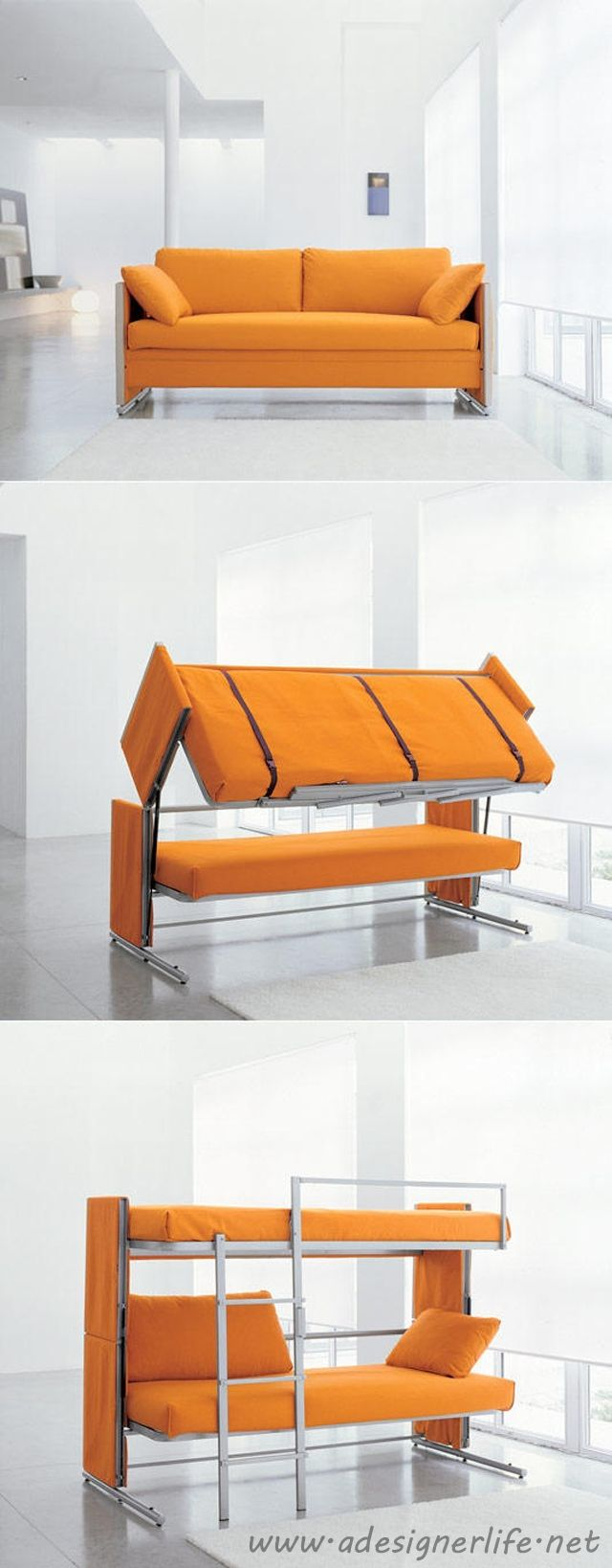 Resource Furniture Convertible Sofa to Bunk Bed #product_design #furniture_design