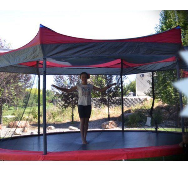 Shade Cover For 15 Trampoline Backyard Trampoline Canopy