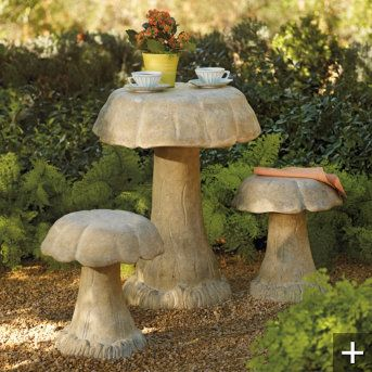 Mushrooms Outdoor And Tables On Pinterest