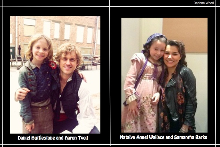 Daniel Huttlestone with Broadway star Aaron Tveit, Natalya Angel-Wallace with West End star Samantha Barks ♥