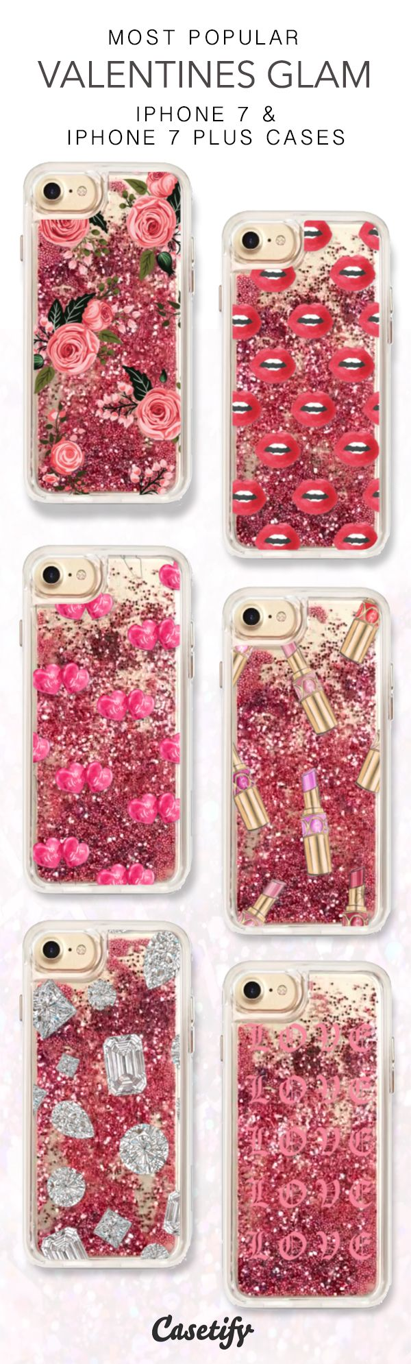 Most Popular Valentines Glam iPhone 7 Cases & iPhone 7 Plus Case here > https://www.casetify.com/collections/iphone-7-glitter-cases#/