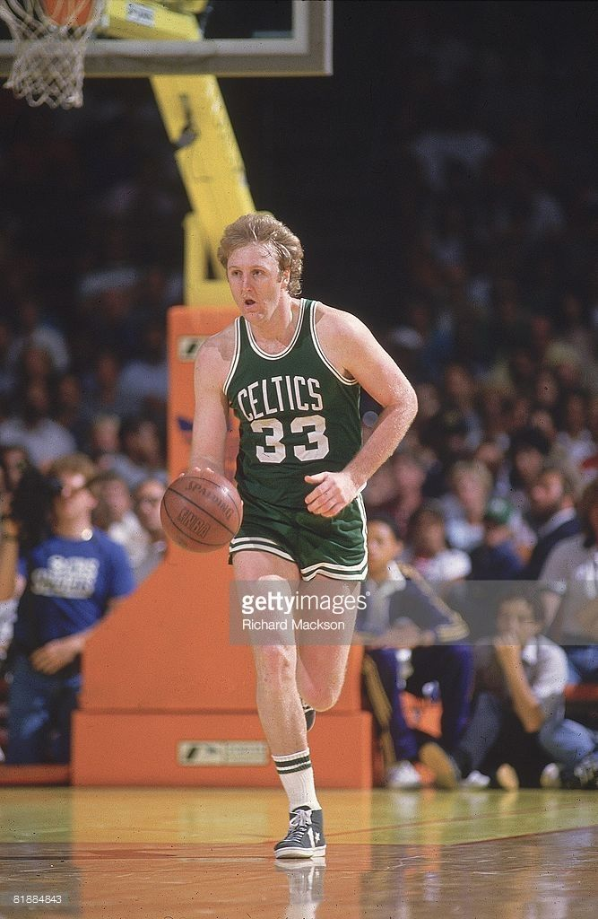 NBA Finals, Boston Celtics Larry Bird (33) in action vs Los Angeles Lakers, Game 4, Inglewood, CA 6/6/1984