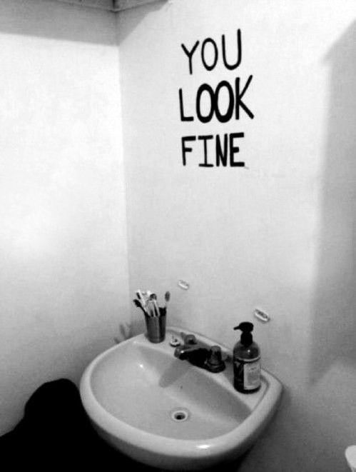 Photo Gallery For Website You are beautiful from the inside out who needs mirrors to tell you that A wonderful substitute for a mirror in a bathroom quirky and funny interior