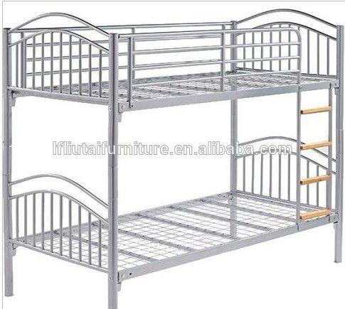 Fuerte school dorm cama litera de metal / metal de la cama de hierro / de dos plantas de cama de metal en blanco
