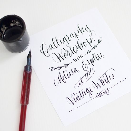 Live Calligraphy workshop in SLC in March
