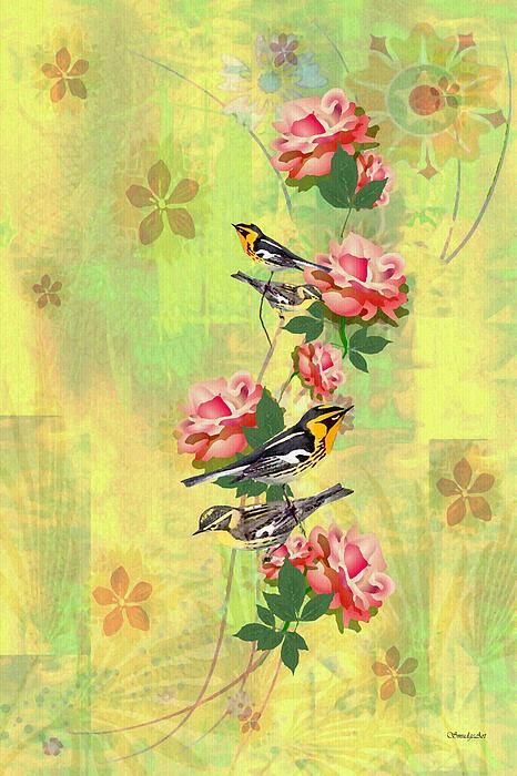 """A SmudgeArt contemporary digital oil painting composition titled """"A Natural Perch"""""""