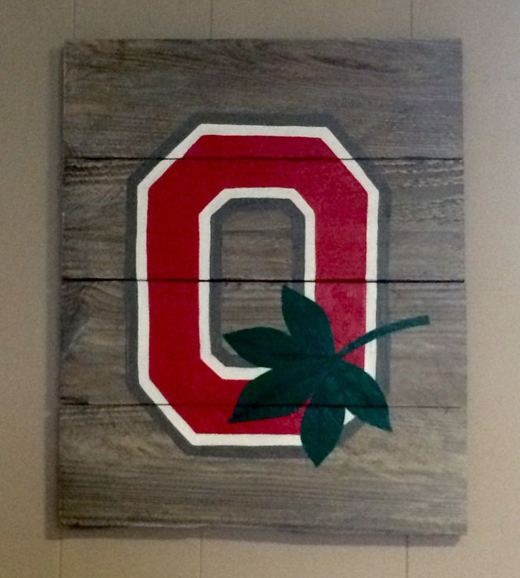 Ohio state buckeyes pallet wall hanging by LJsPallets on Etsy https://www.etsy.com/listing/225460721/ohio-state-buckeyes-pallet-wall-hanging