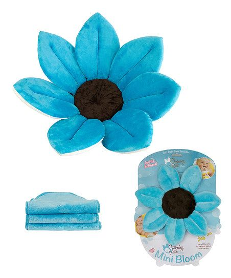 Turquoise Blooming Bath Set @ Little House Gifts & More Houston Missouri