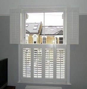 Plantation shutters are a great way of keeping light in front your sash windows whilst maintaining a level of privacy