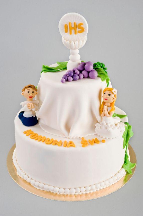 Tort Komunijny dzieci Tort można zamówić od 20 porcji – waga 2000 – 2500