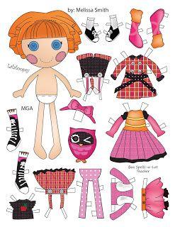Мисс Мисси бумажные куклы: бумажные куклы Лалалупси Пт 2