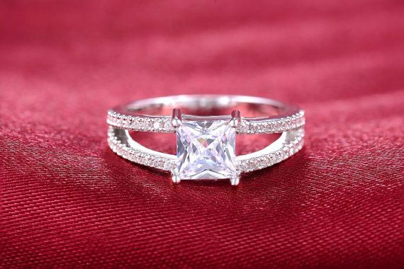 Round Cut Engagement Ring Wedding Promise Ring by DesignByIrenne