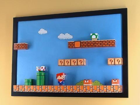 Mario Papercraft Magnet Board