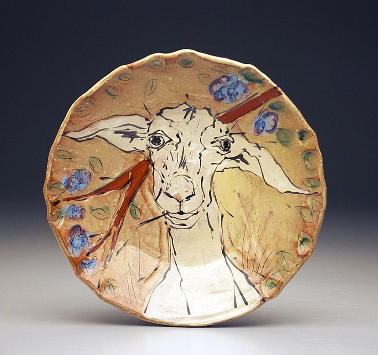 Mel Griffin Goat plate & 176 best clay plates and platters images on Pinterest