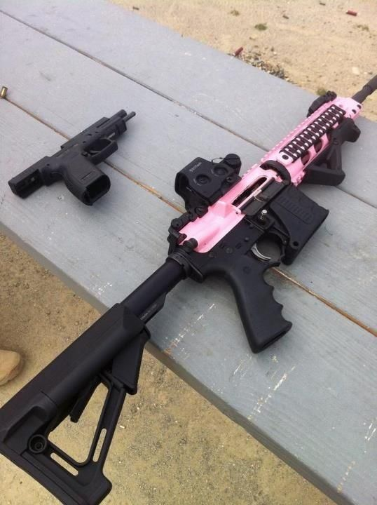 Never was into pink guns much, but I like this :)