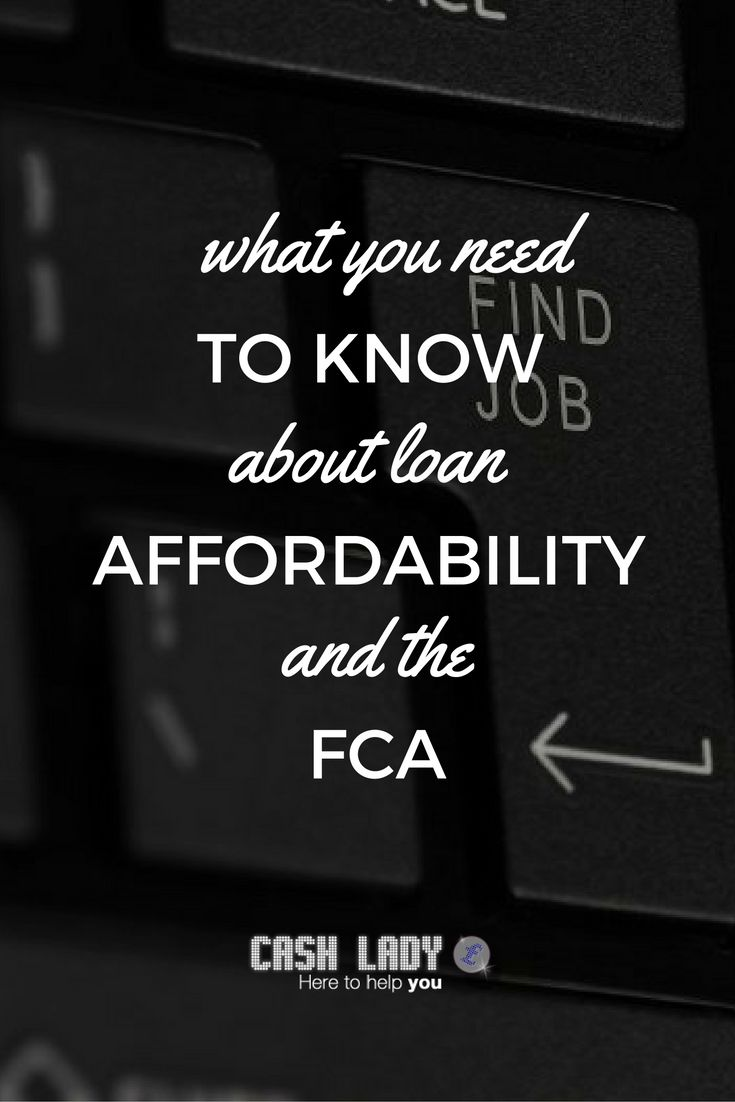 The importance of loan affordability in the eyes of the FCA