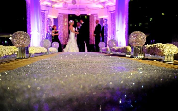 Sparkly Aisle Runner Weddings Pinterest