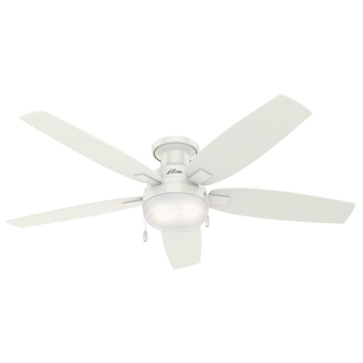 Hunter Duncan 52 in. LED Indoor Fresh White Ceiling Fan-59186 - The Home Depot