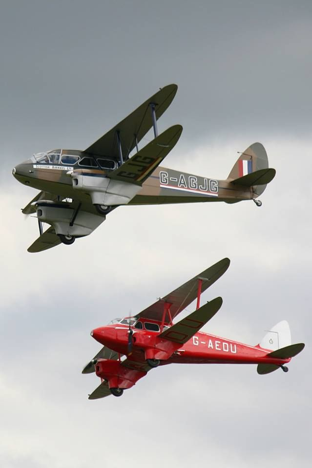De Havilland DH.89 and DH.90 at the 2008 'Flying Legends' air show in Duxford, UK.