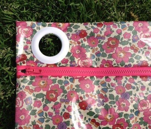 Sac à poussette canne en Liberty Betsy rose