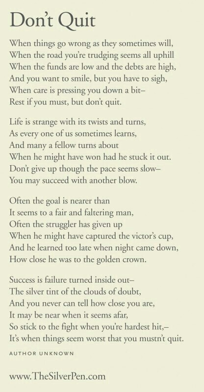 Decisive image inside don't quit poem printable