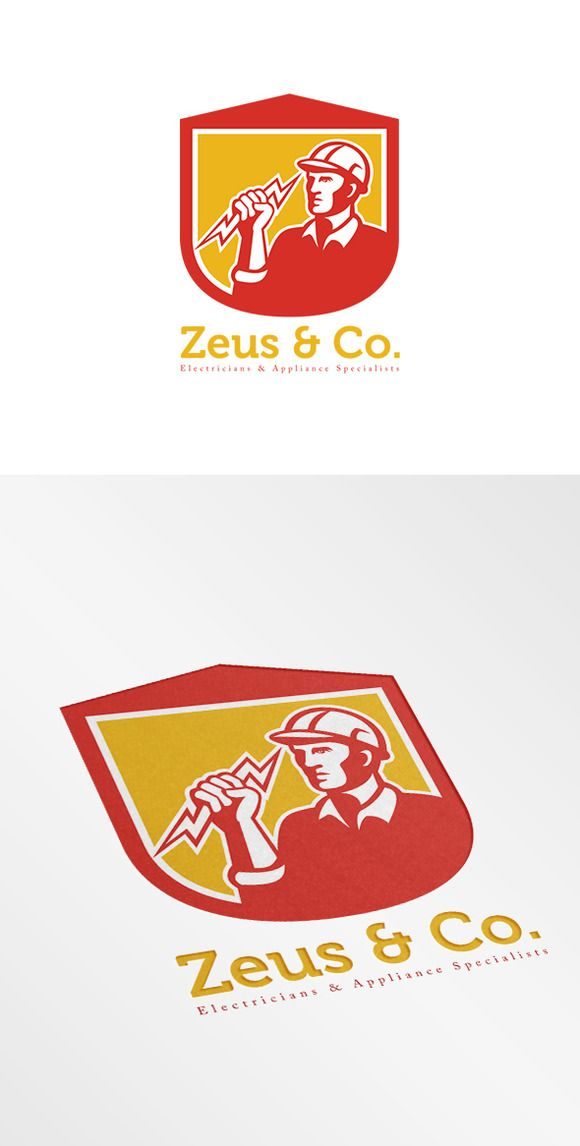 Zeus Electricians Logo by patrimonio on Creative Market