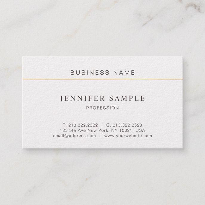 Minimalist Professional Chic Design Modern Plain Business Card Zazzle Com Professional Chic Chic Design Modern Design