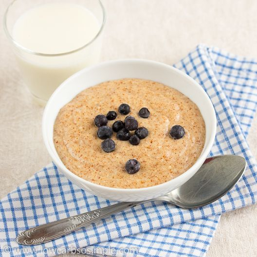 Gluten-Free Hot Cereal (Breakfast Porridge) | Low-Carb, So Simple! -- gluten-free, sugar-free recipes with 5 ingredients or less