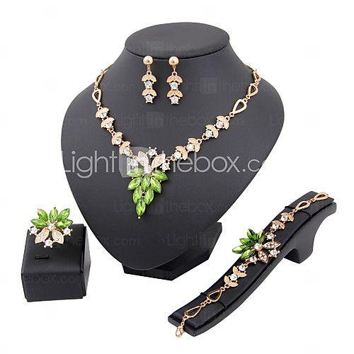 Conjunto de joyas De mujeres Aniversario / Boda / Pedida / Cumpleaños / Regalo / Fiesta Sets de Joya Aleación Diamantes Sintéticos 2017 - $4.99