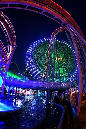 ROLLER COASTER RIDES!!!! Can't live without that rush of excitement, and this park is designed specifically for nighttime entertainment! #bucketlist