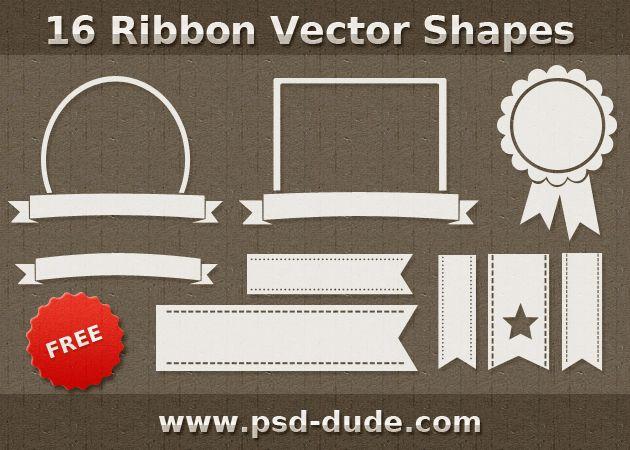 Ribbon Vector Shapes for Photoshop   PSDDude