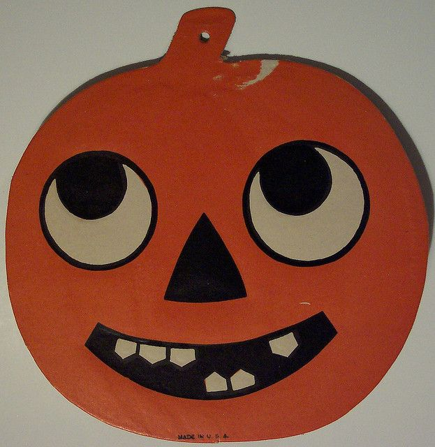 Vintage Halloween Happy Jack-O-Lantern Diecut by riptheskull, via Flickr