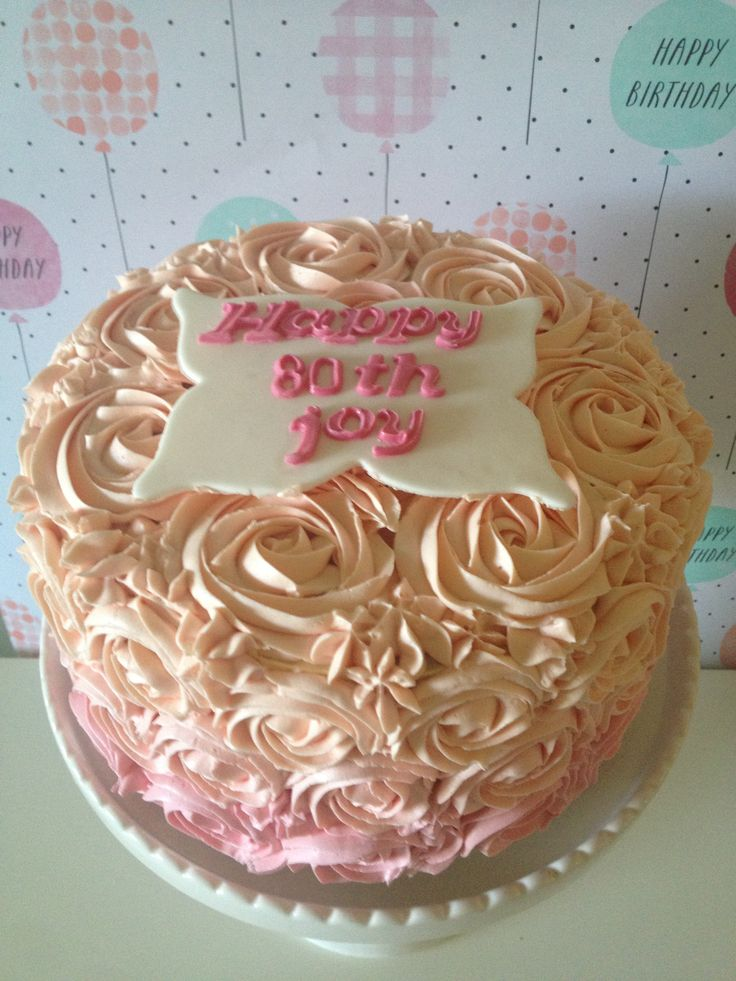 Rose Birthday Cake crumbsbakery.com.au