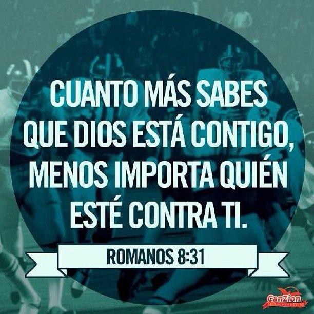 Cuanto más sabes que #Dios está contigo, menos importa quién esté contra ti. / Rom. 8:31 - taken by @CanZion - via instagramm.in