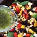 My Life as a Mrs. » Southwestern Salad with Cilantro Jalapeno Vinaigrette