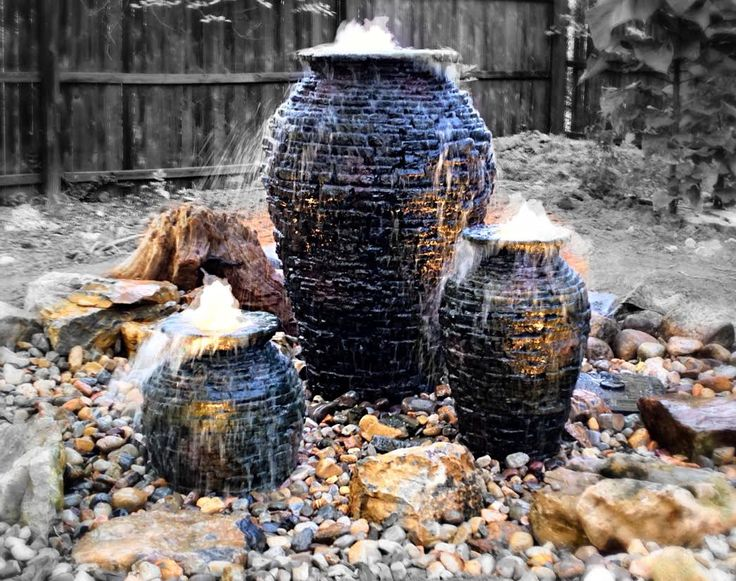 Pond Contractor, Atlantis Water Gardens From Denville, Morris County, NJ  Installed Aquascapeu0027s Stacked Slate Urns And Incorporated Them Into This  Cascading ...