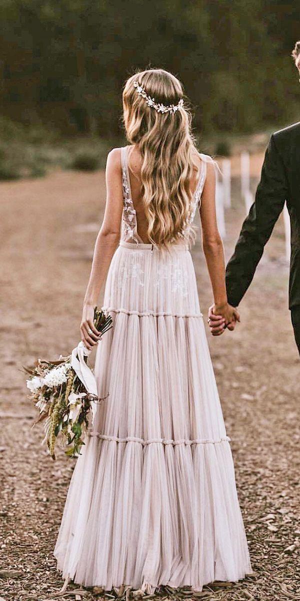 Boho Brautkleid Hochzeitskleid Sexy Bridal Gown Nude Etsy