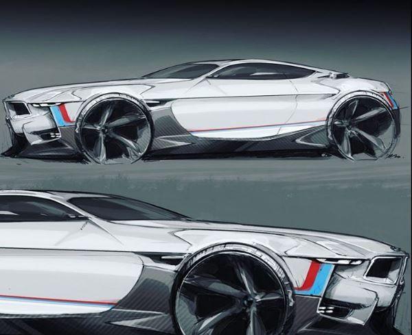 BMW concept sketch Transportation Art Bmw concept
