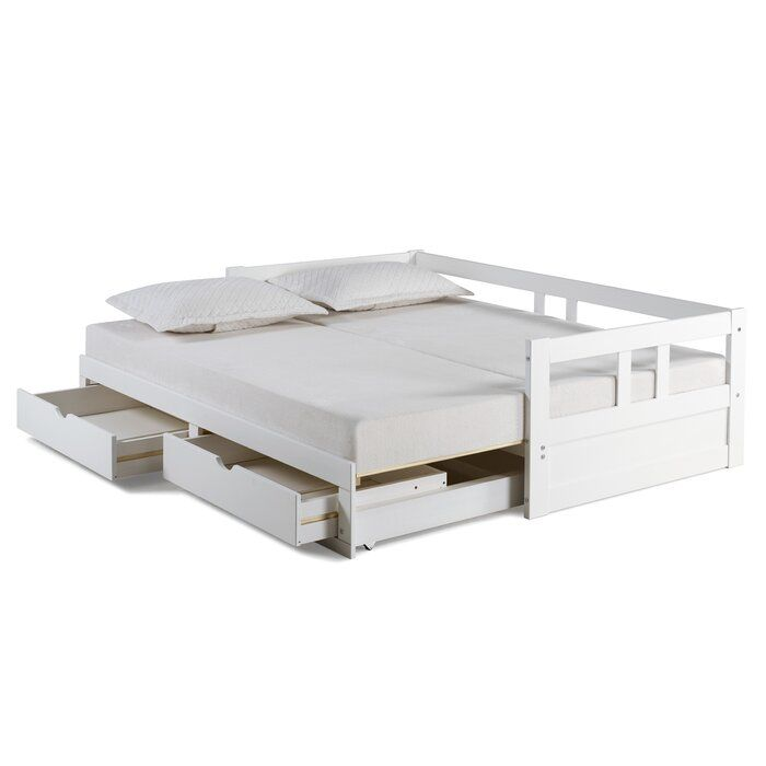 Bechtold Daybed With Trundle With Images Daybed With Storage Daybed With Trundle Trundle Bed With Storage