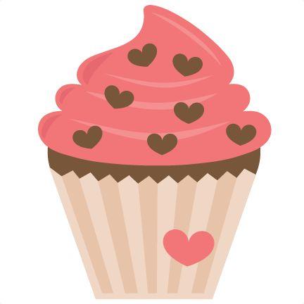 Valentine Cupcake SVG.