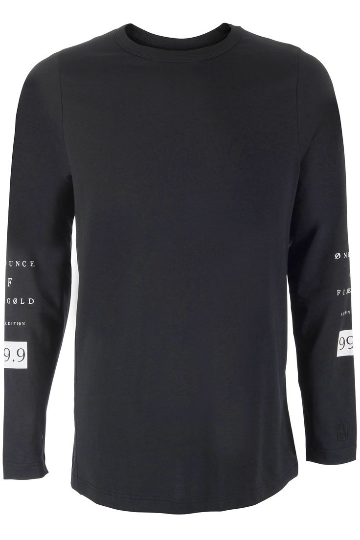 Long sleeve T-shirt van Franzel Amsterdam. Het shirt valt extra lang en heeft witte letters op de rug en mouwen. Aan de zijkant staat Franzel Amsterdam geborduurd.