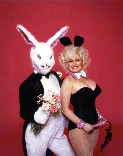20th-century-man:  Dolly Parton (and unknown rabbit) / photo by...