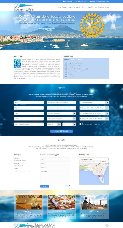 35° Forum fascia costiera del Mediterraneo e del Mar di Sardegna: Web Designer