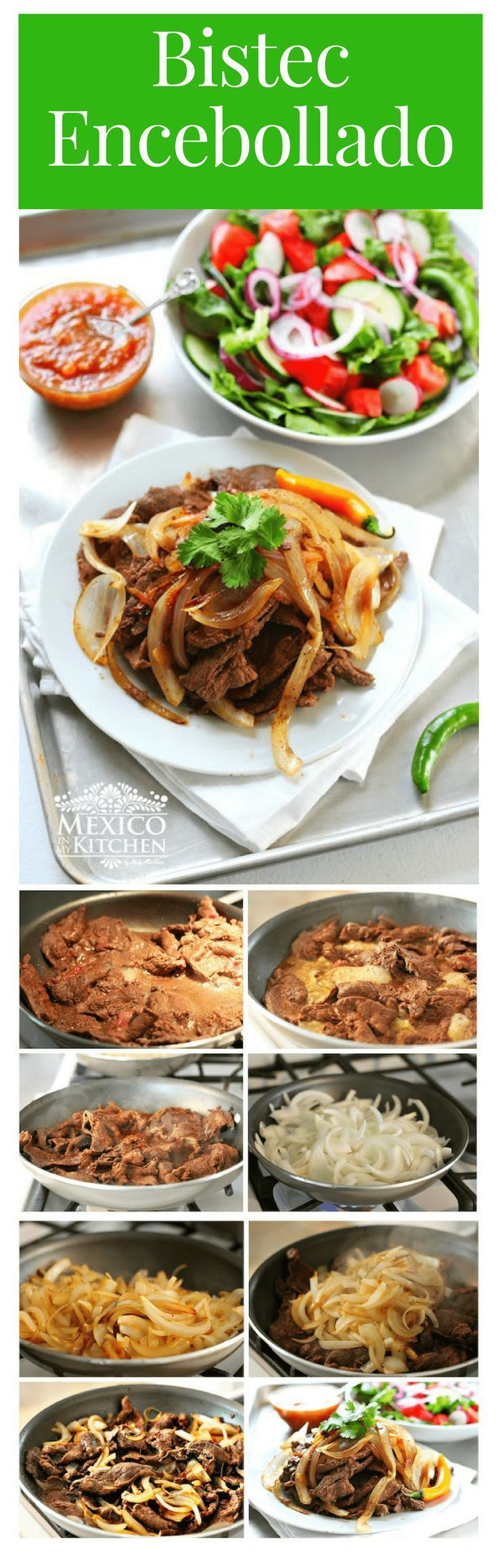 Bistec Encebollado | This recipe was given to me several years ago by an old man from Michoacan, who used to have a small restaurant near Atlanta, Georgia. #mexicanrecipes #beef #mexicancuisine #kitchen