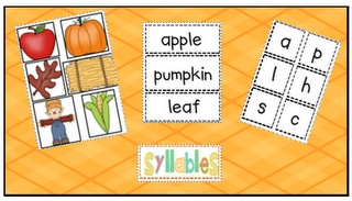 Fall counting syllables/beginning sounds